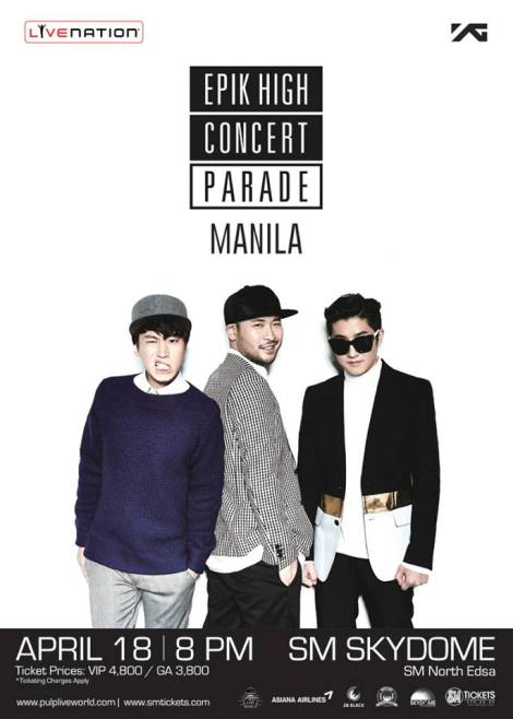 EPIK HIGH IN MANILA philippines  kpop concert