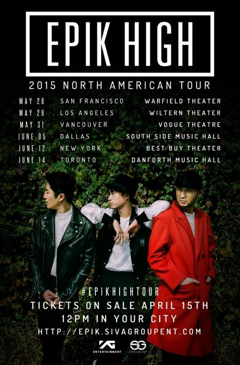 EPIK HIGH TOUR NORTH AMERICA 2015