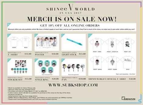shinee-merch