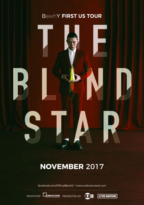 BewhY First US Tour 'The Blind Star' Poster